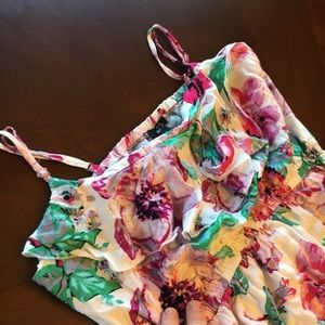 Rue21 Dresses - RUE 21 RAYON white floral strappy spring Dress